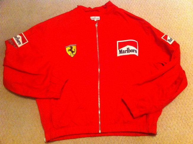 1997 scuderia ferrari f1 jacket with marlboro branding | paddock