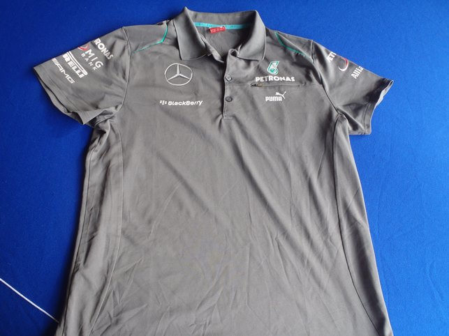 2013 mercedes amg petronas f1 race polo shirt paddock. Black Bedroom Furniture Sets. Home Design Ideas